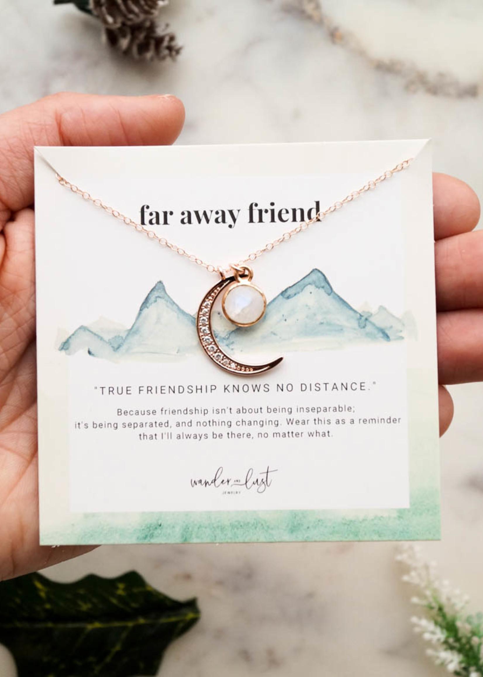 "Wander & Lust Jewelry Far Away Friend Necklace   18"""