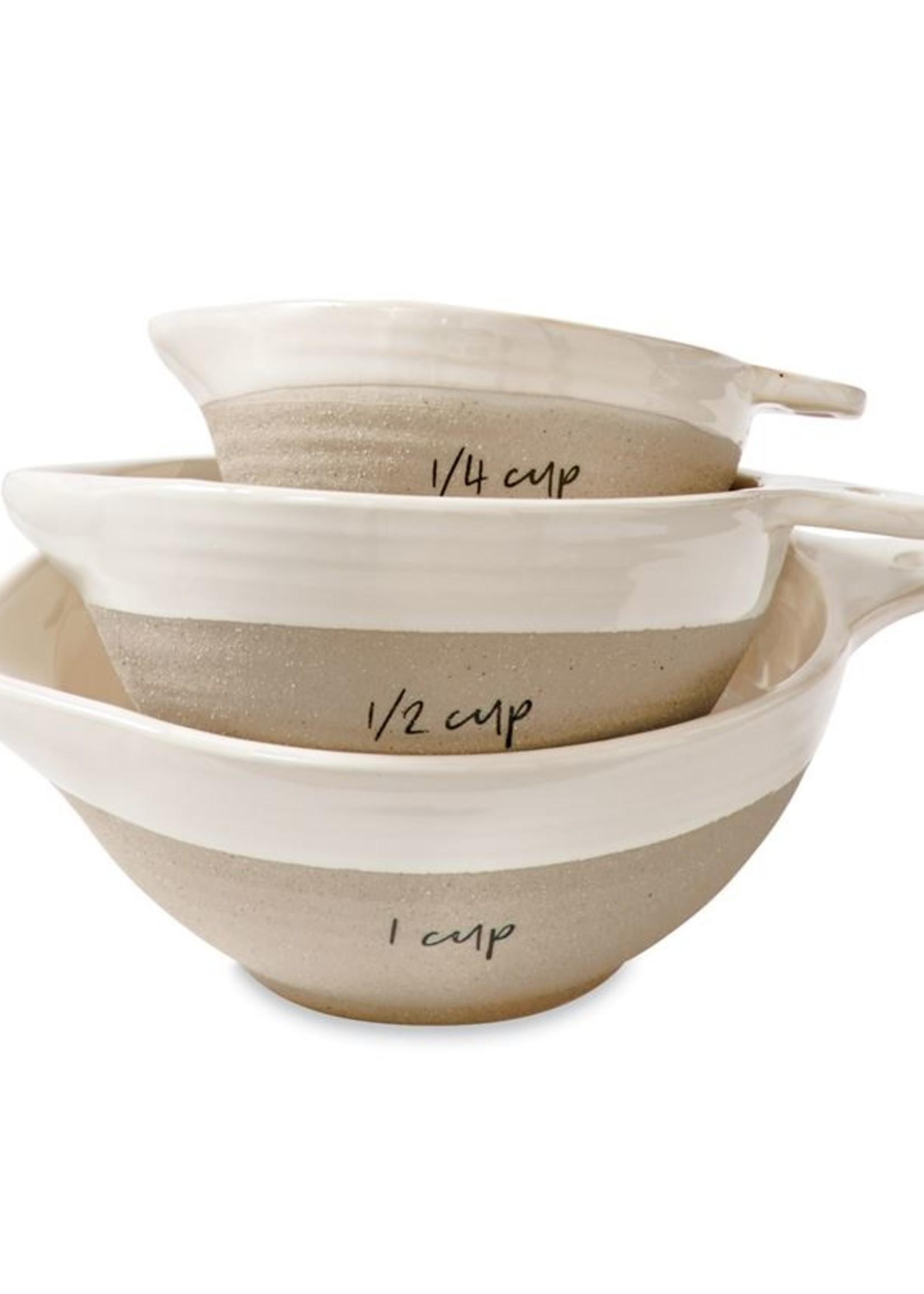 Mud Pie Stoneware Measuring Cups
