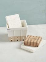 Mud Pie Stoneware Basket w/ Sponges