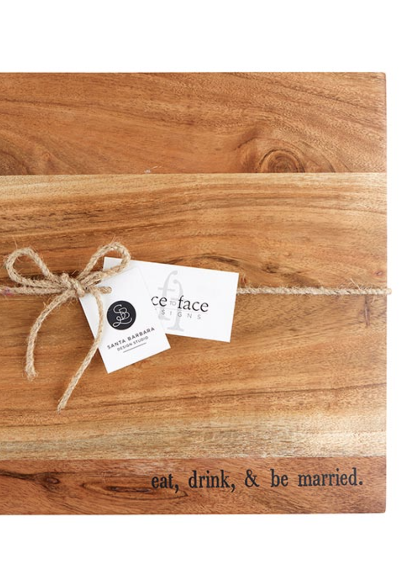 SB Design Studio Eat, Drink, & Be Married Tray