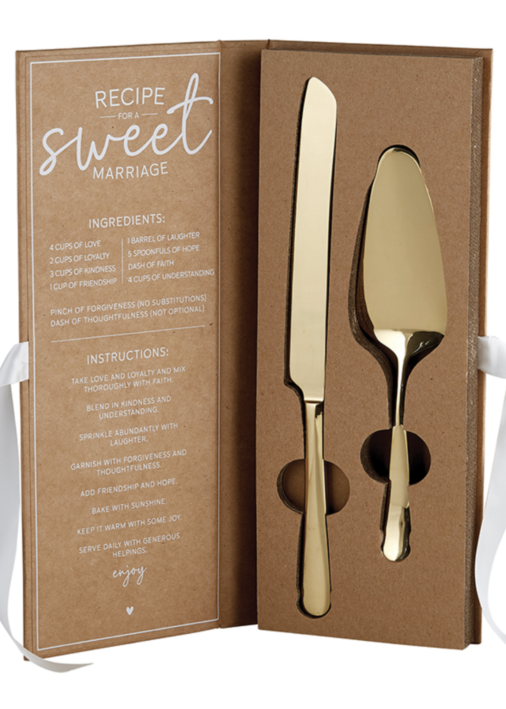 SB Design Studio Cake Server Set | Gold