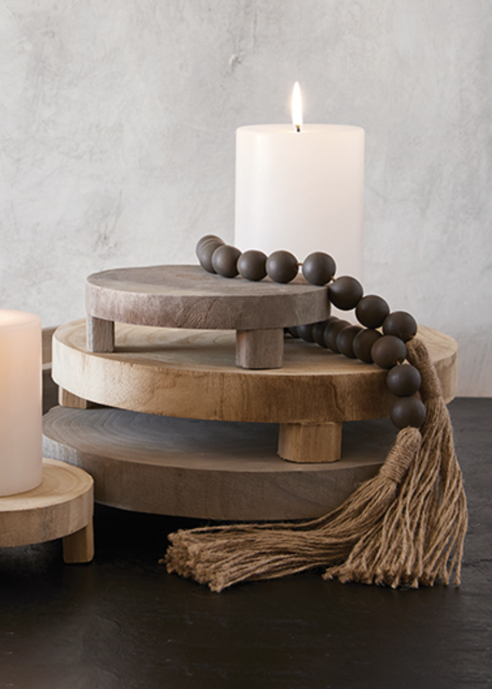 SB Design Studio Wood Riser   Grey