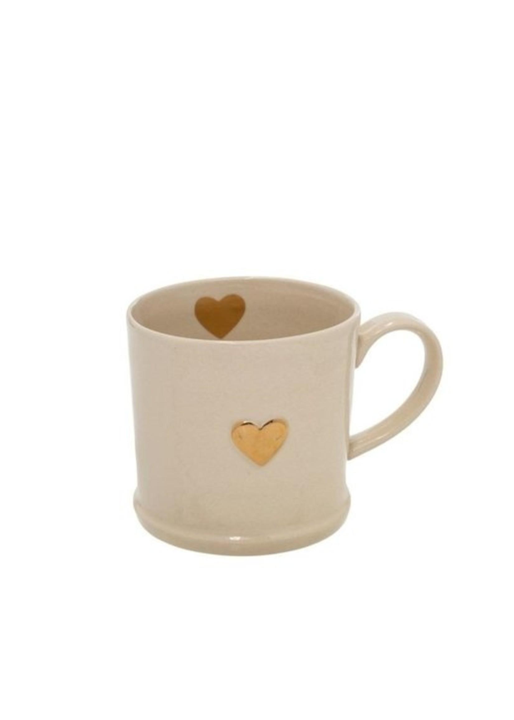 Indaba Trading Co Sweetheart Mug | Gold