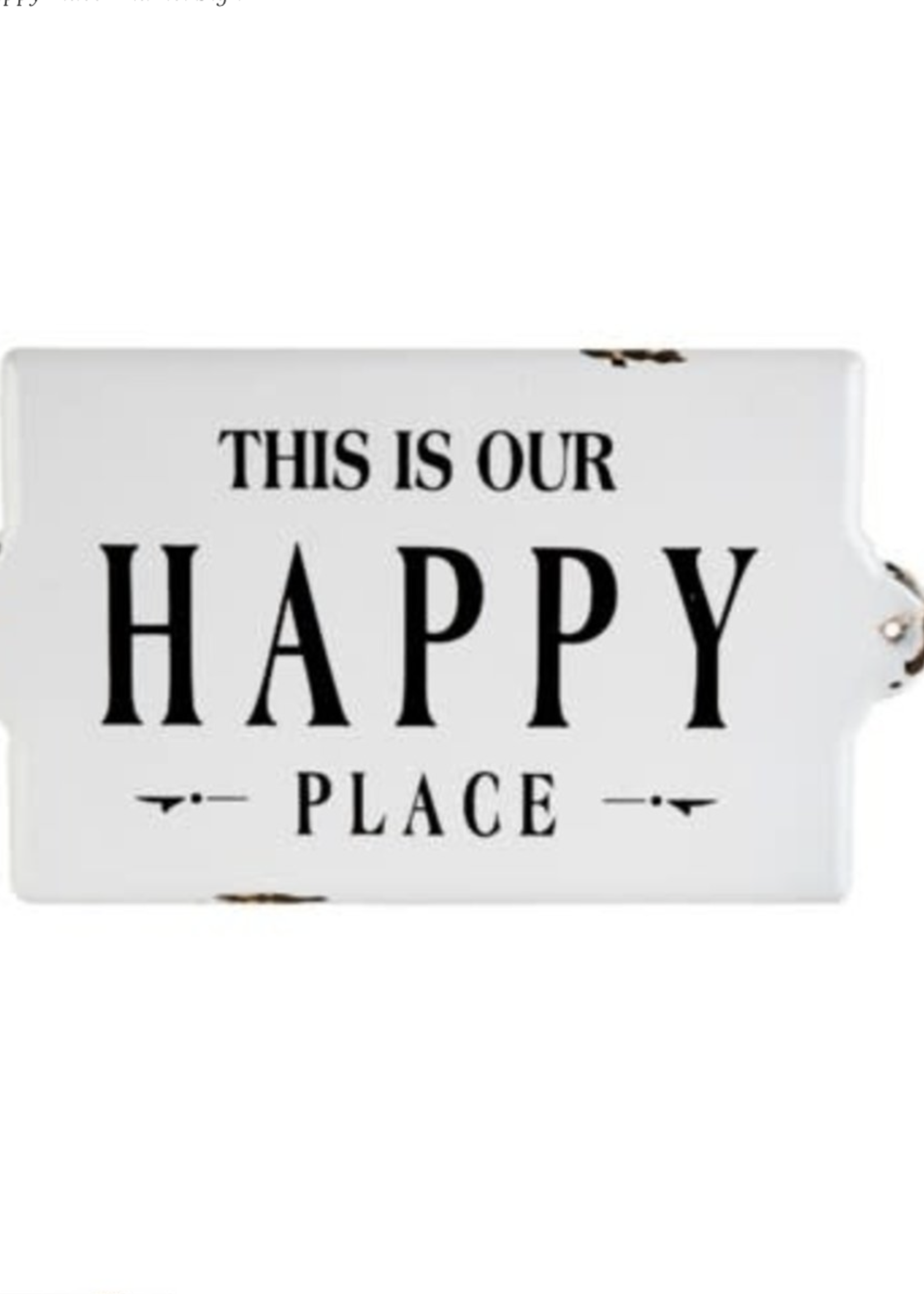Indaba Trading Co Happy Place Sign