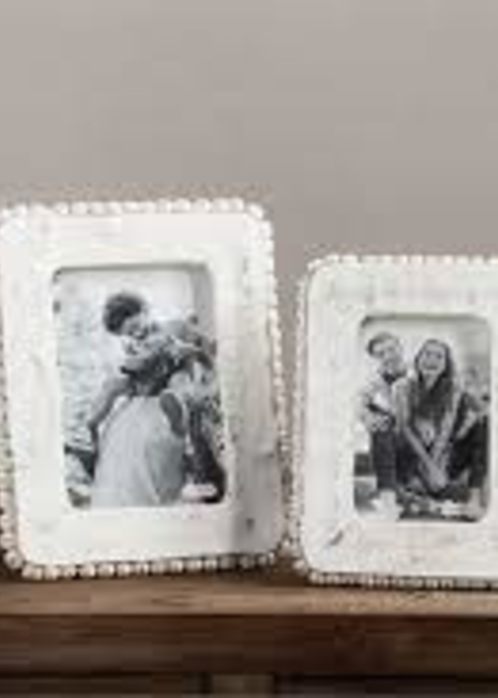 """Mud Pie 5""""x7"""" Beaded Picture Frame"""