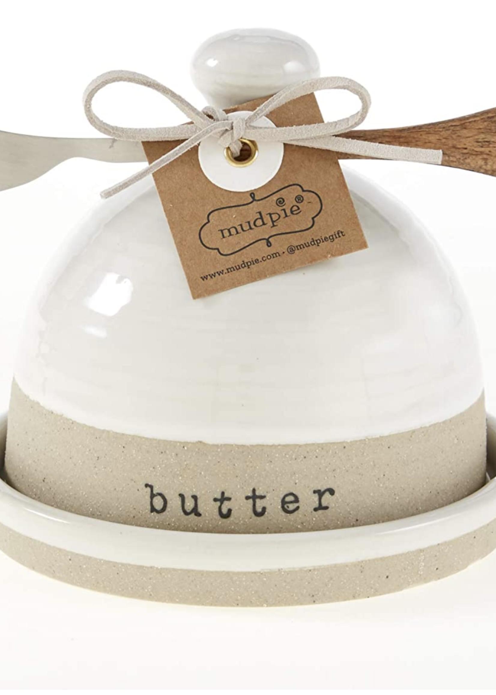 Mud Pie Stoneware Butter Dish