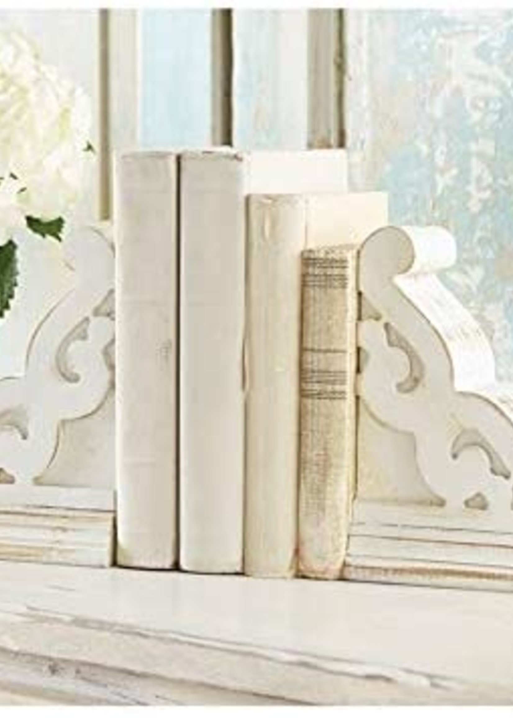 Mud Pie Washed White Bookend