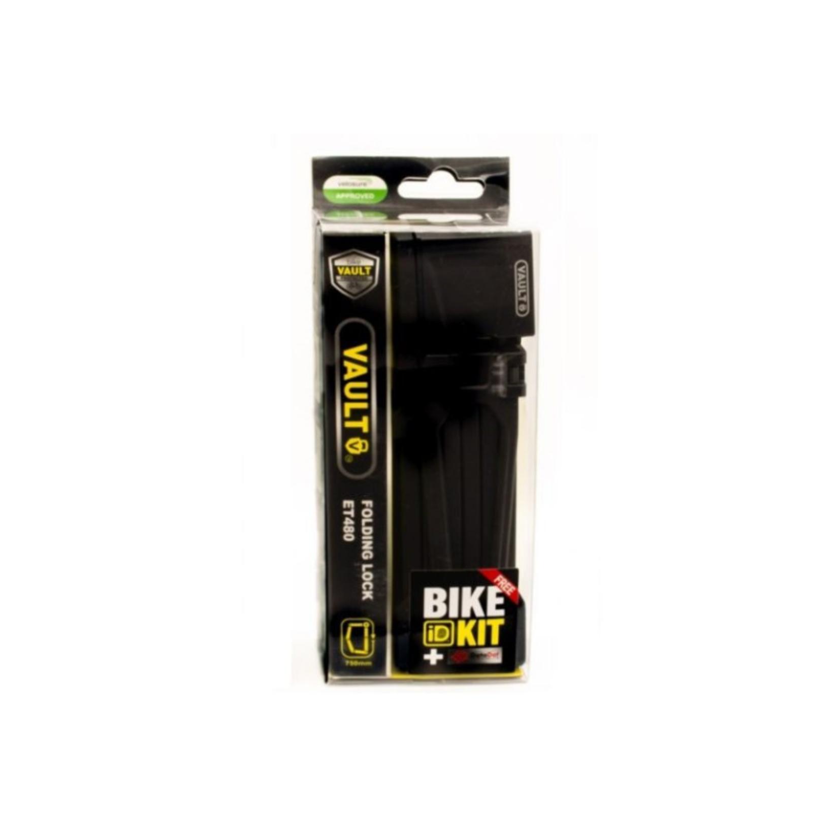 Vault ET480 Folding Lock 750mm + Bike ID Kit