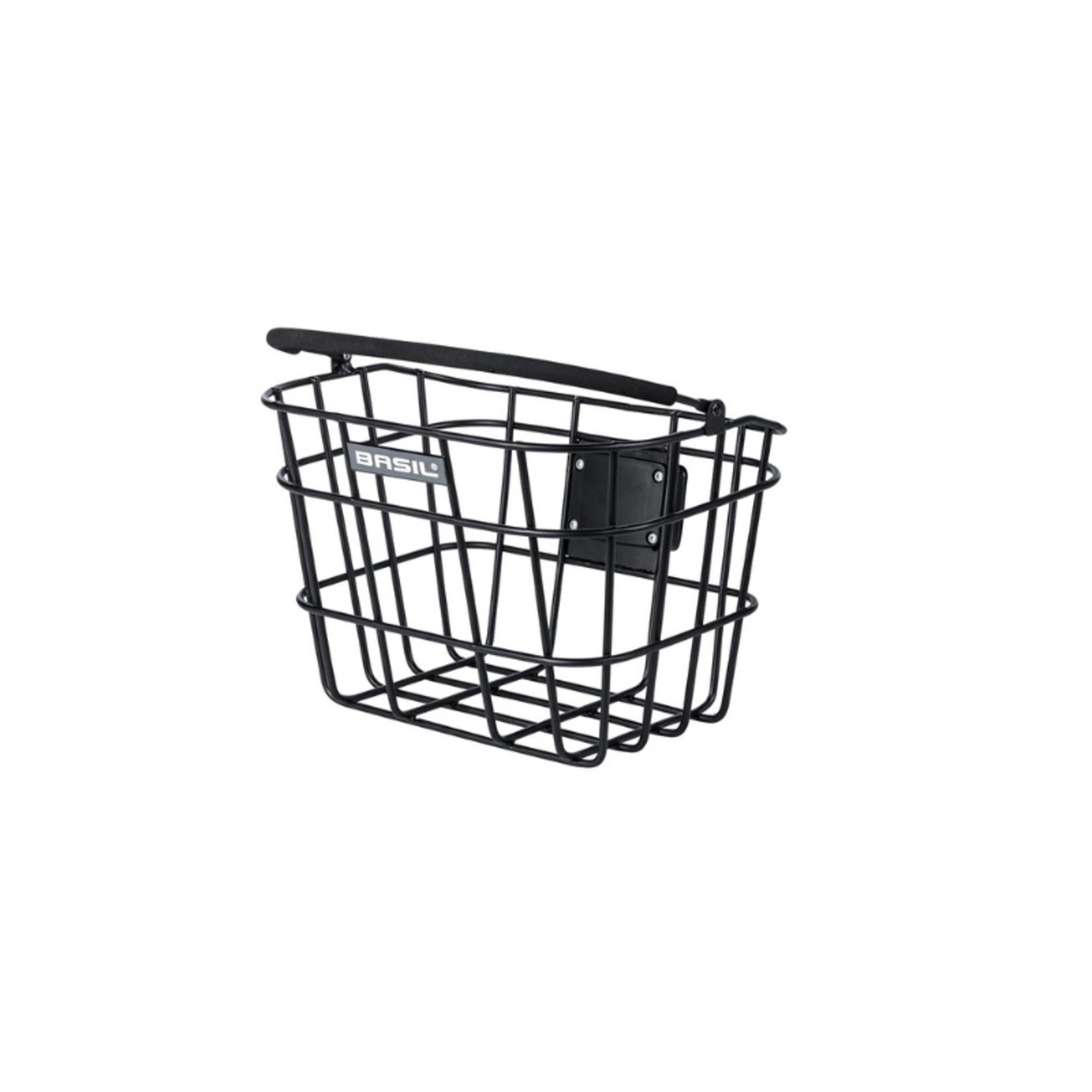 Basil Bremen Front Basket Aluminium Matt Black