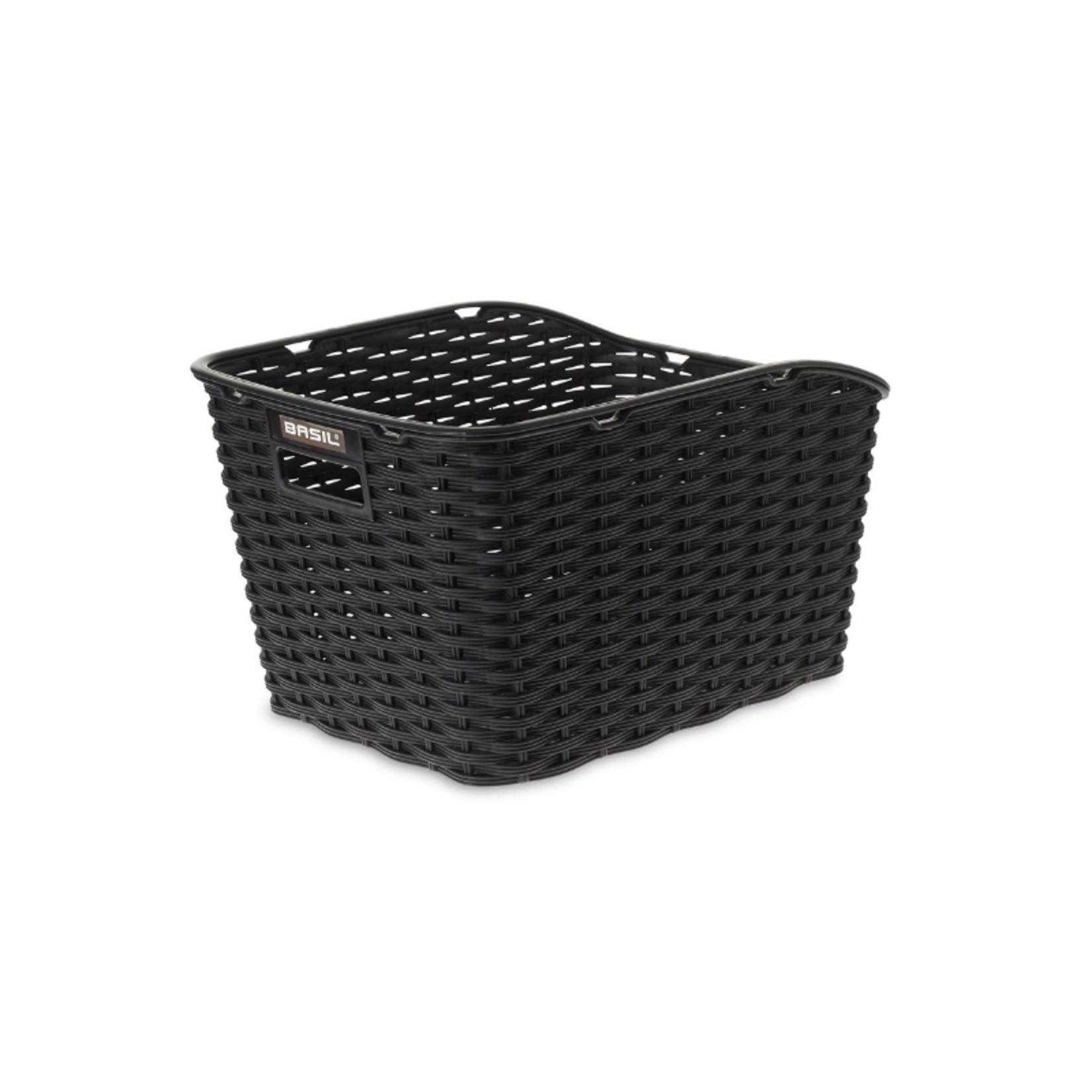 Basil Basil Weave Synthetic Rear Basket Black