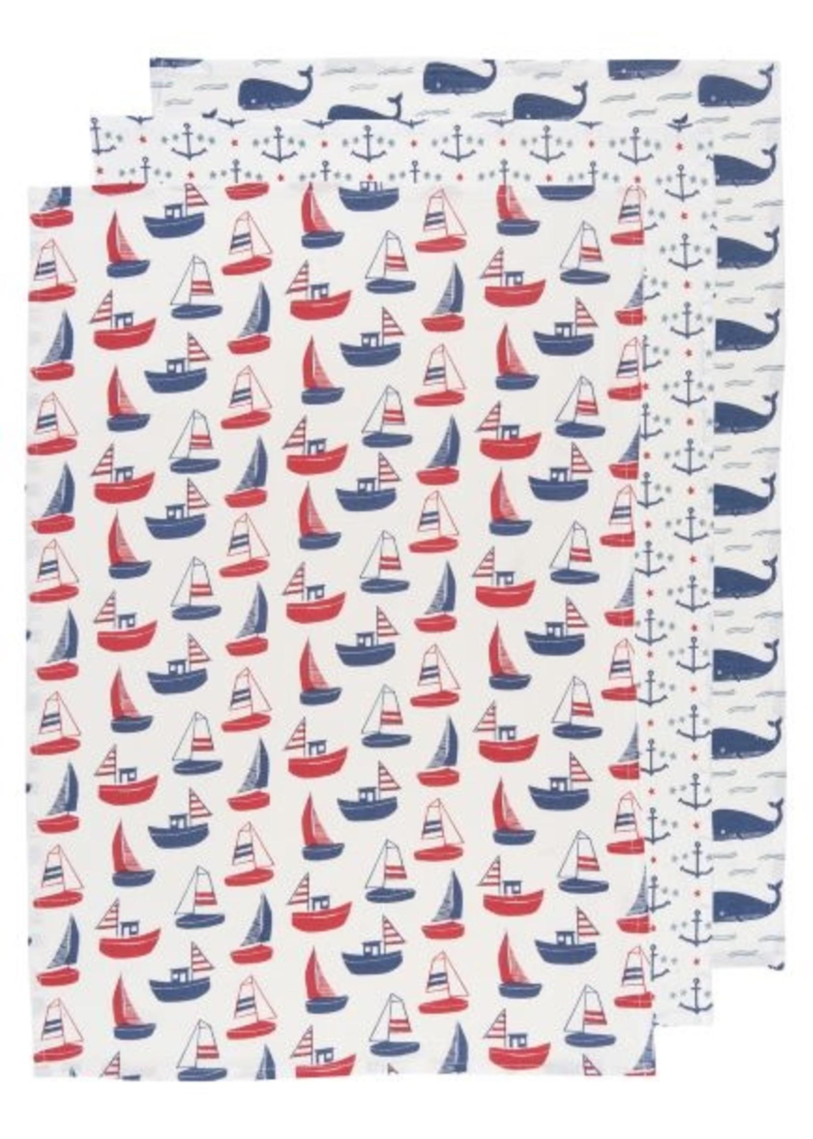Now Designs Ahoy Matey Baker's Floursacks Set of 3