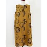 PURE FIT USA MONA LISA BUTTON FRONT TUCK DRESS NATURE BUBBLE
