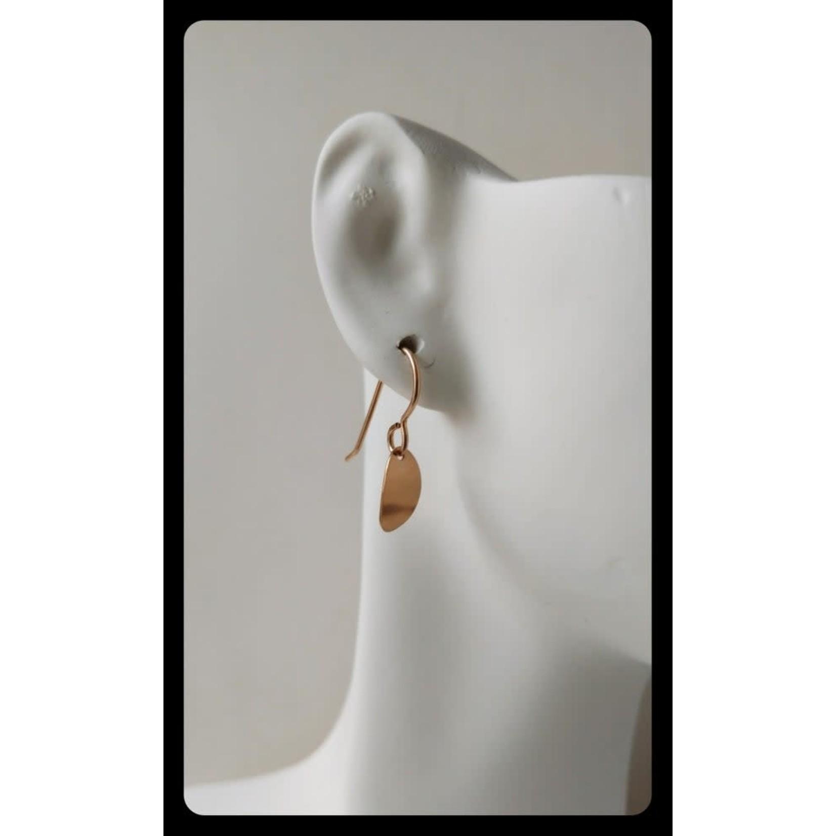 SPANGLE JEWELRY COMPANY CURVED PETAL EARRINGS GF