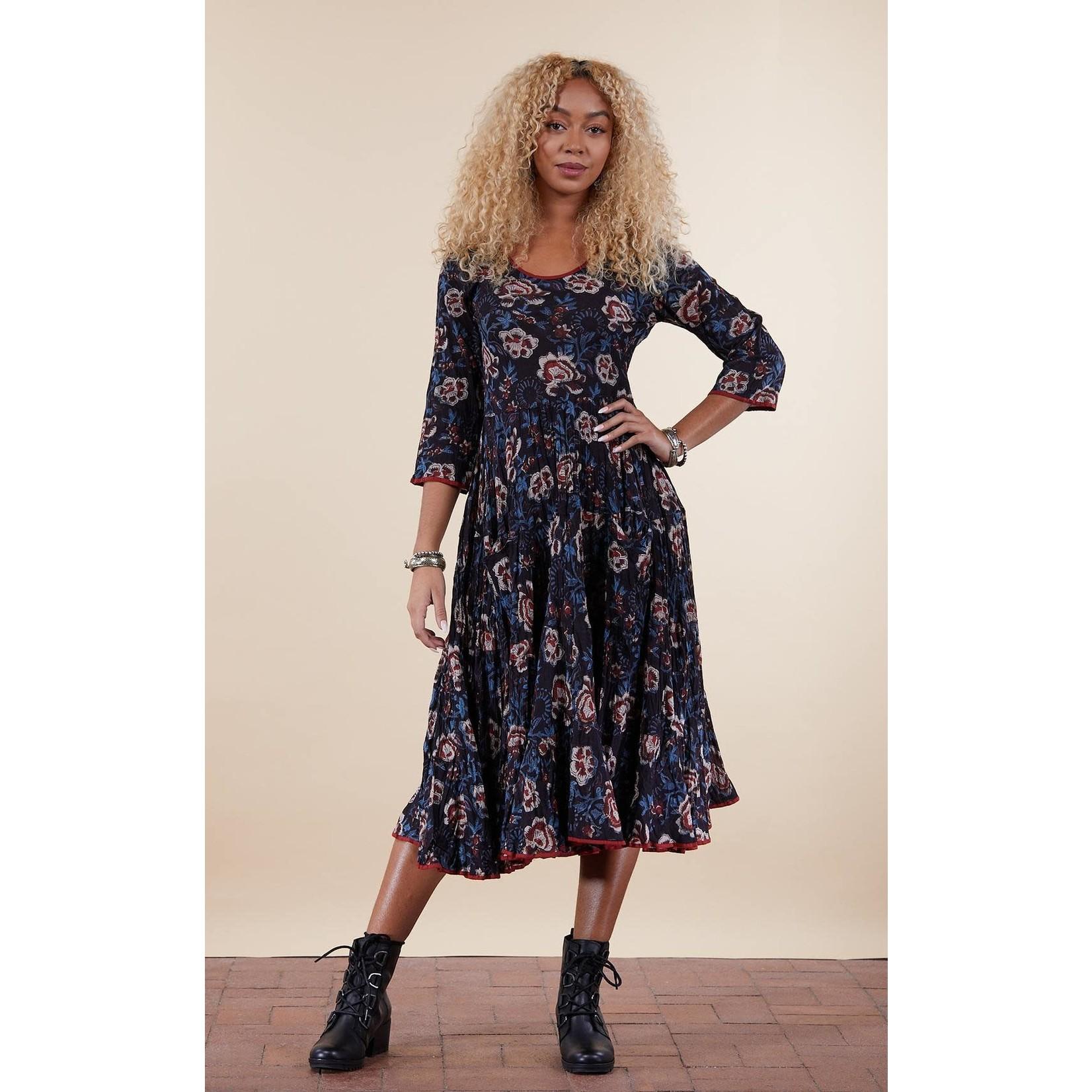 TRADE CLOTH 3/4 SANTE FE LONG DRESS