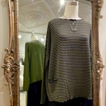 CUT LOOSE NAVY STRIPE ONE SIZE POCKET PULLOVER