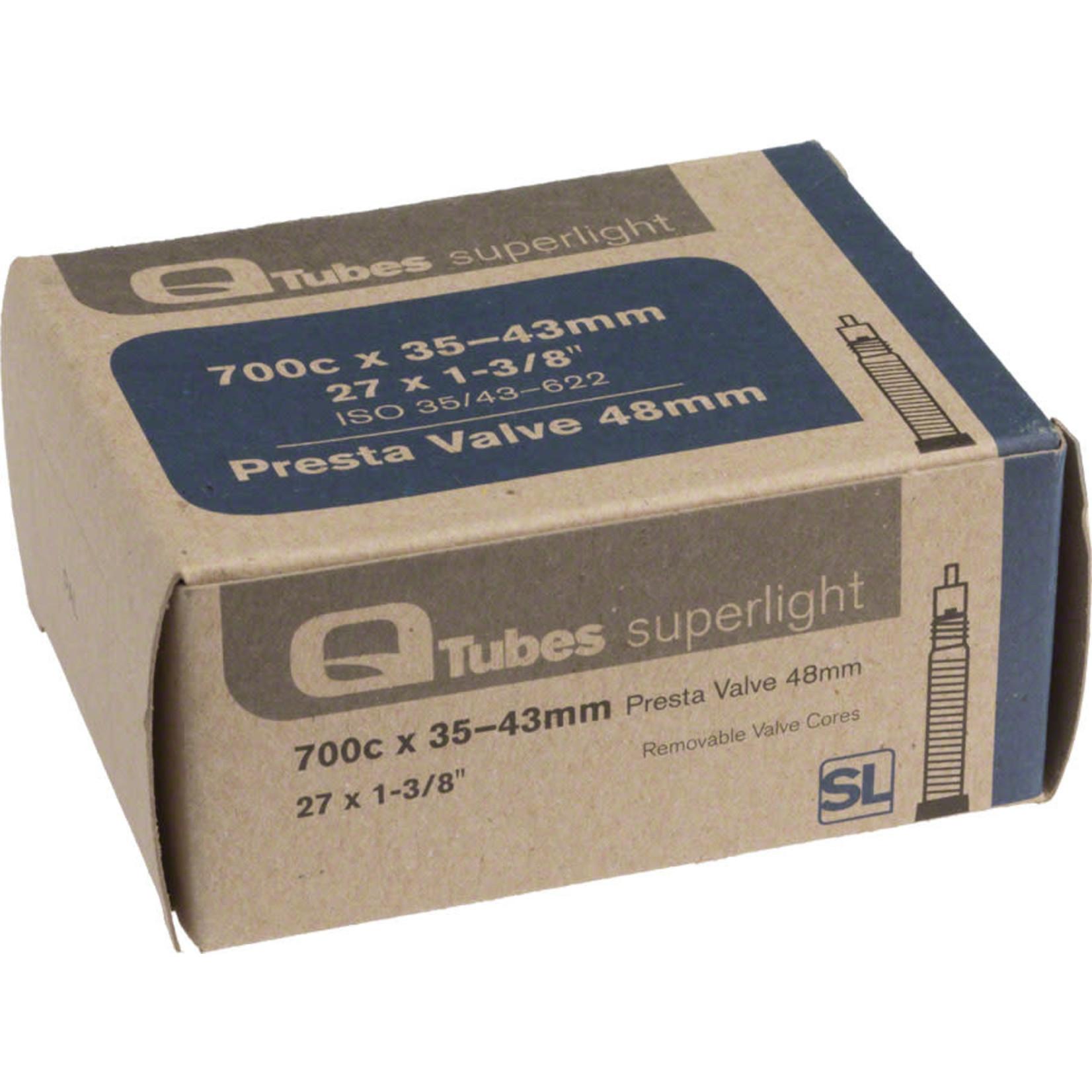 Q-Tubes Q-Tubes / Teravail Superlight 700c x 35-43mm 48mm Presta Valve Tube