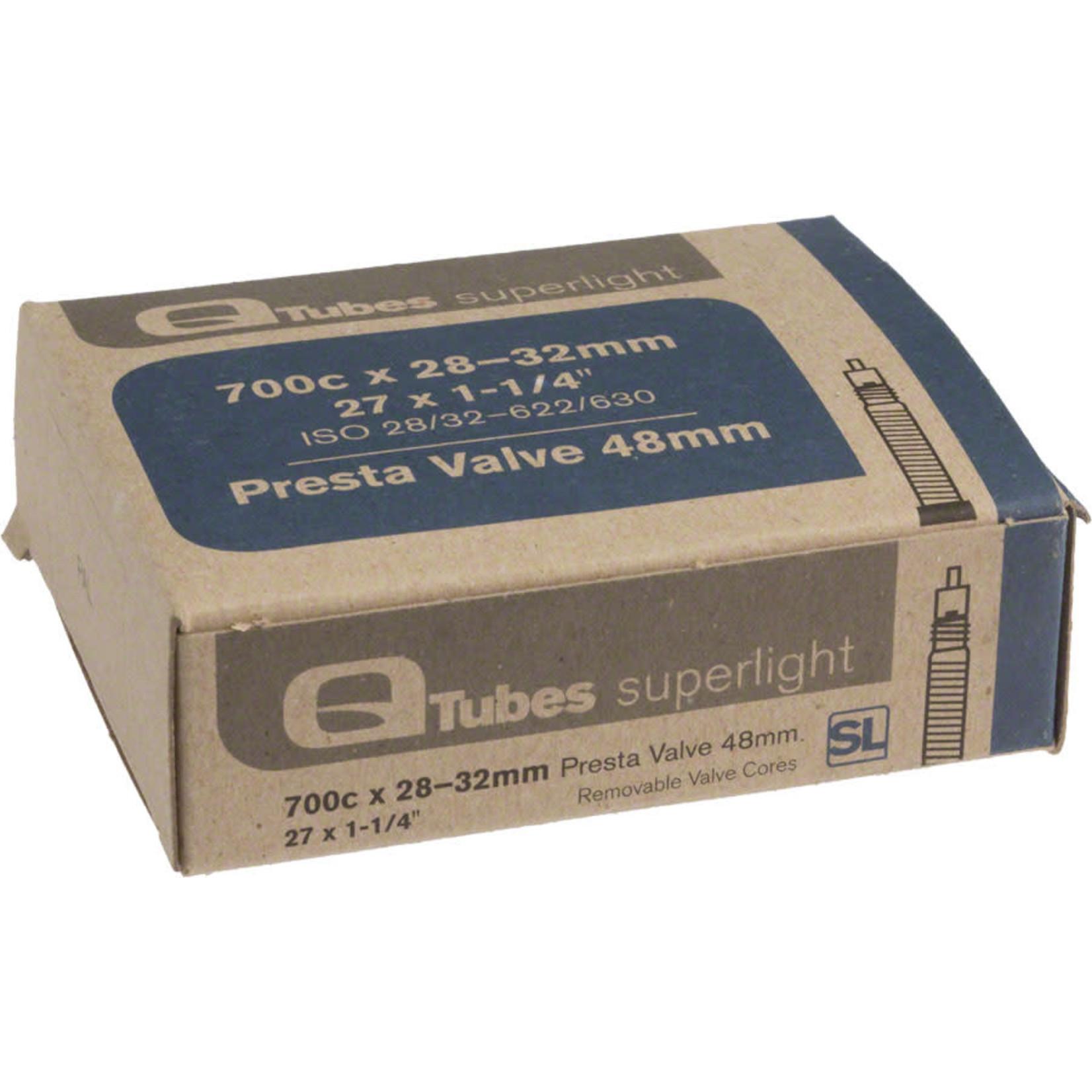 Q-Tubes Q-Tubes / Teravail Superlight 700c x 28-32mm 48mm Presta Valve Tube
