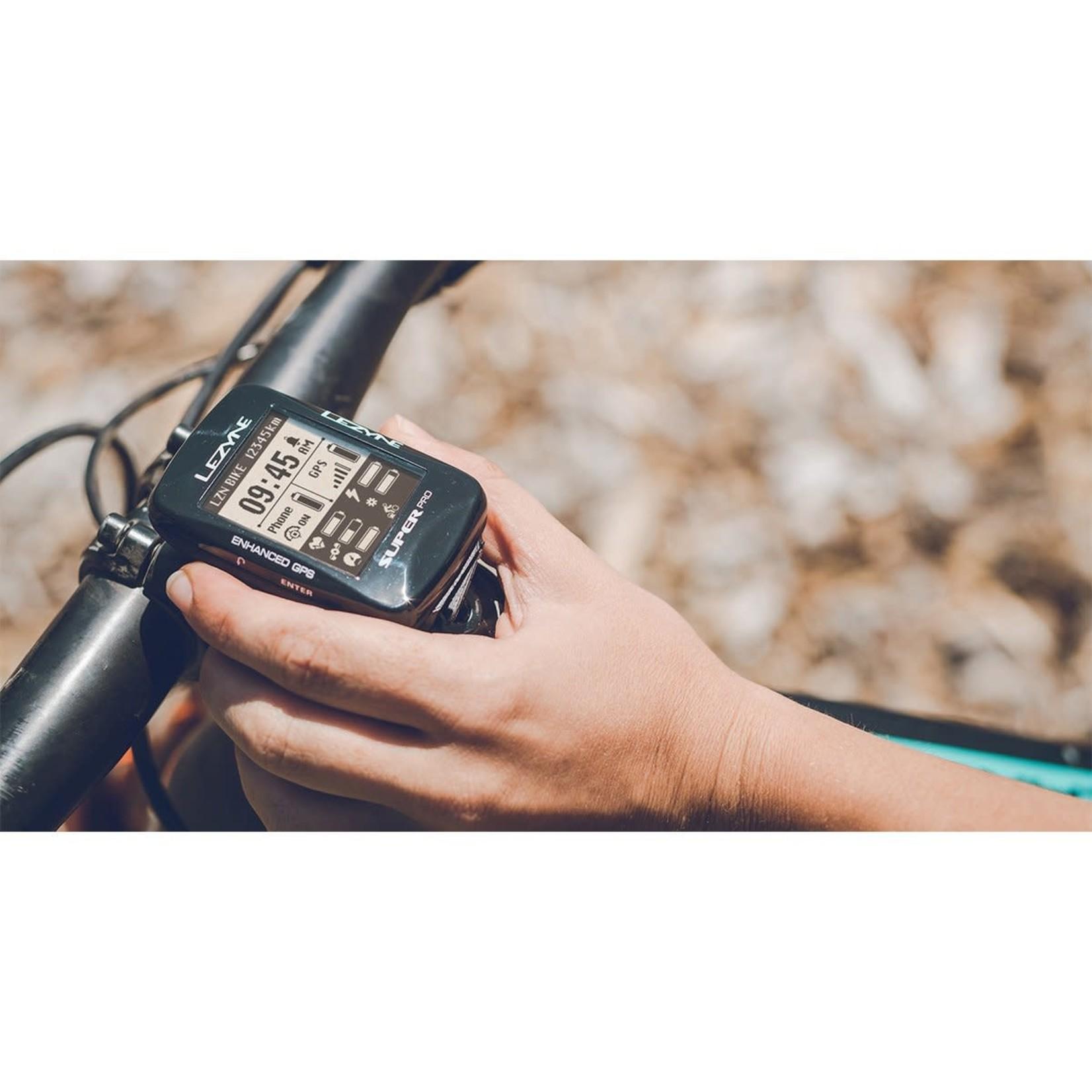 Lezyne Lezyne Super Pro GPS Loaded Bike Computer - GPS, Wireless, Heart Rate Monitor, Speed, Cadence, Black