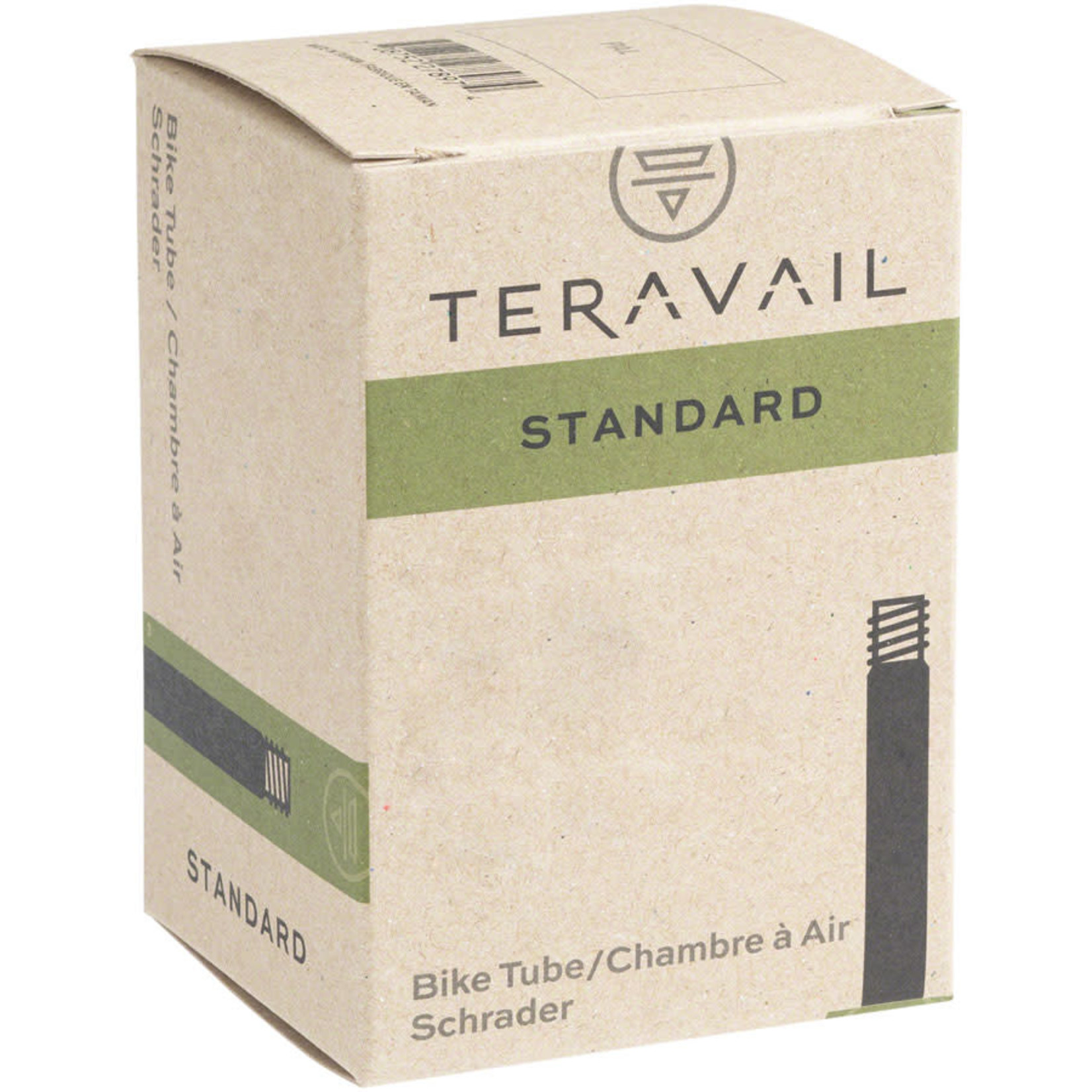 "Q-Tubes Q-Tubes / Teravail 700c x 28-32mm Schrader Valve Tube 128g (27 x 1-1/4"")"