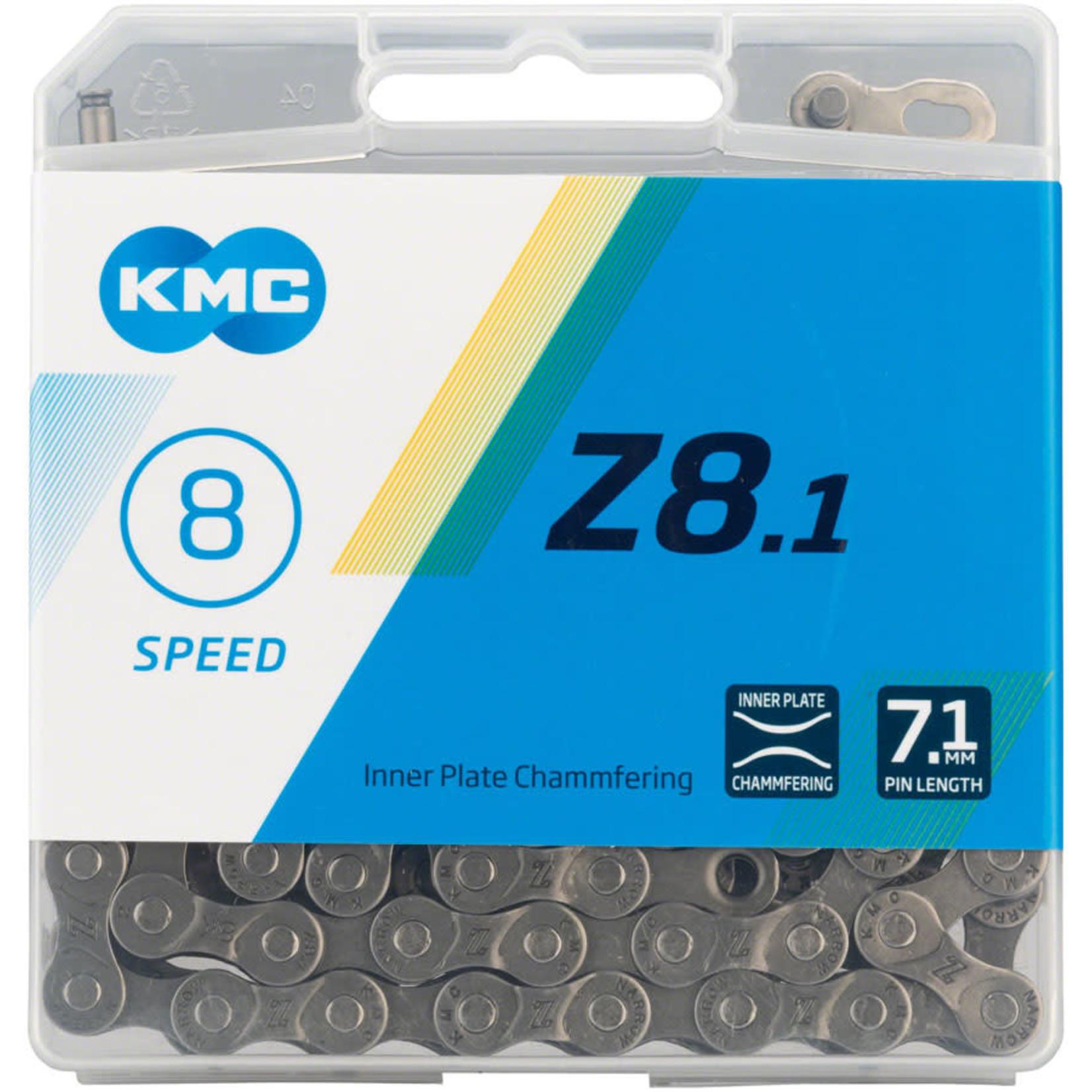 KMC KMC Z8.1 Chain - 8-Speed, 116 Links, Gray