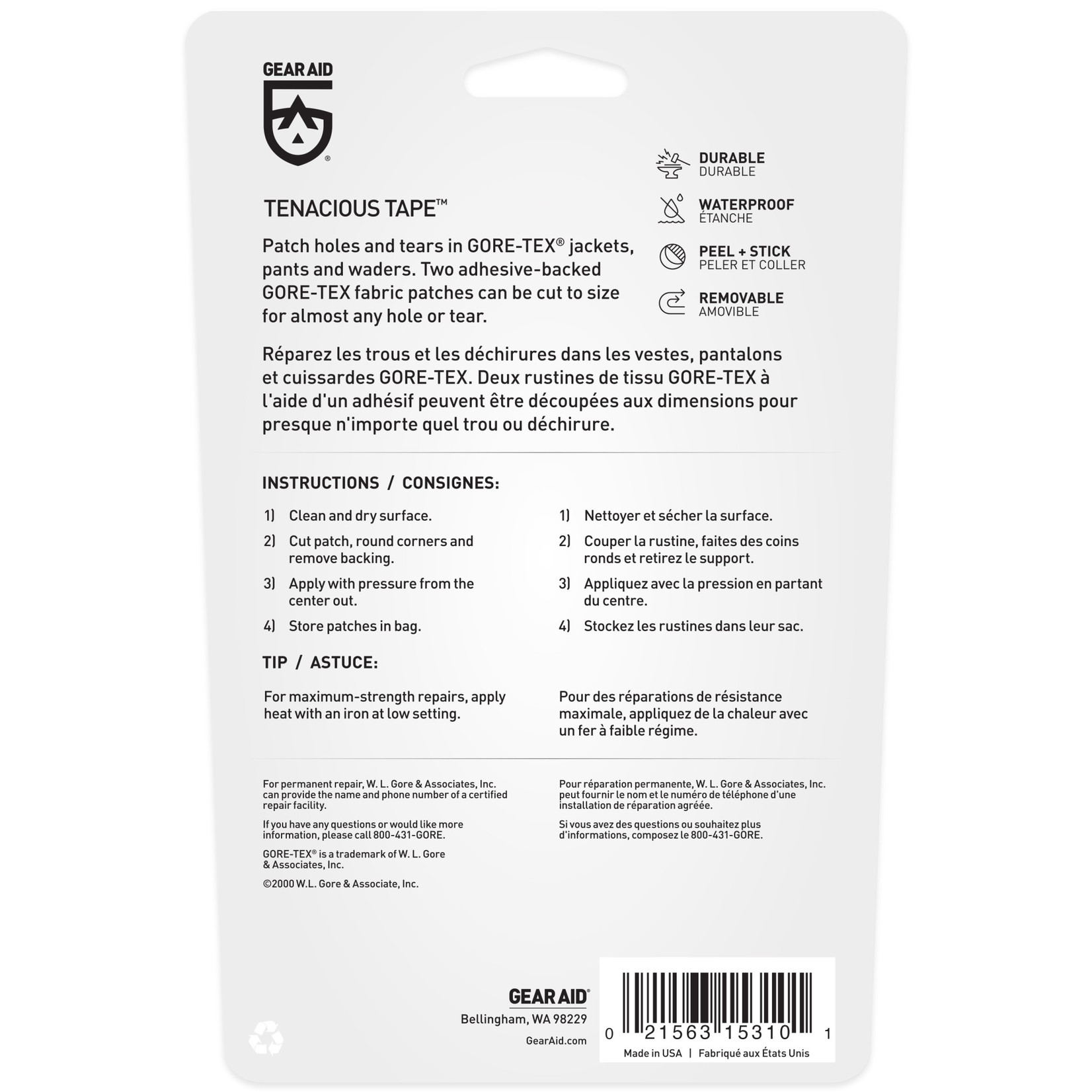 Gear Aid TEN GORE-TEX PATCHES