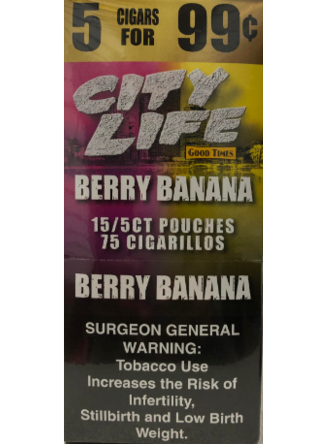 City Life - Berry Banana 5-pack