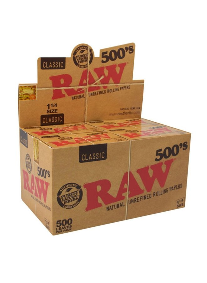 RAW - Classic 500's Rolling Papers