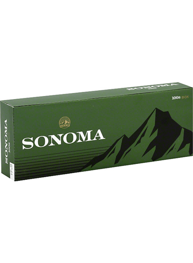 Sonoma - Sonoma Menthol Dark Green 100 Box FSC