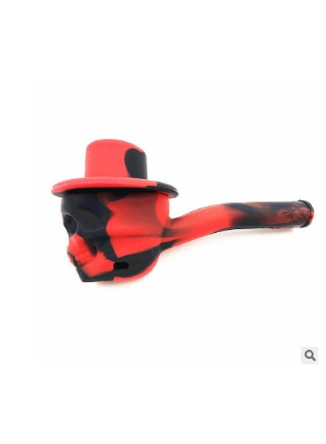 Skull with Hat Pipe