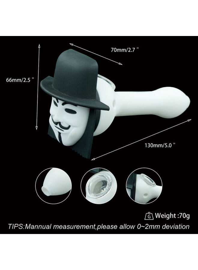 BrandX - Guy Fawkes Silicone Pipe