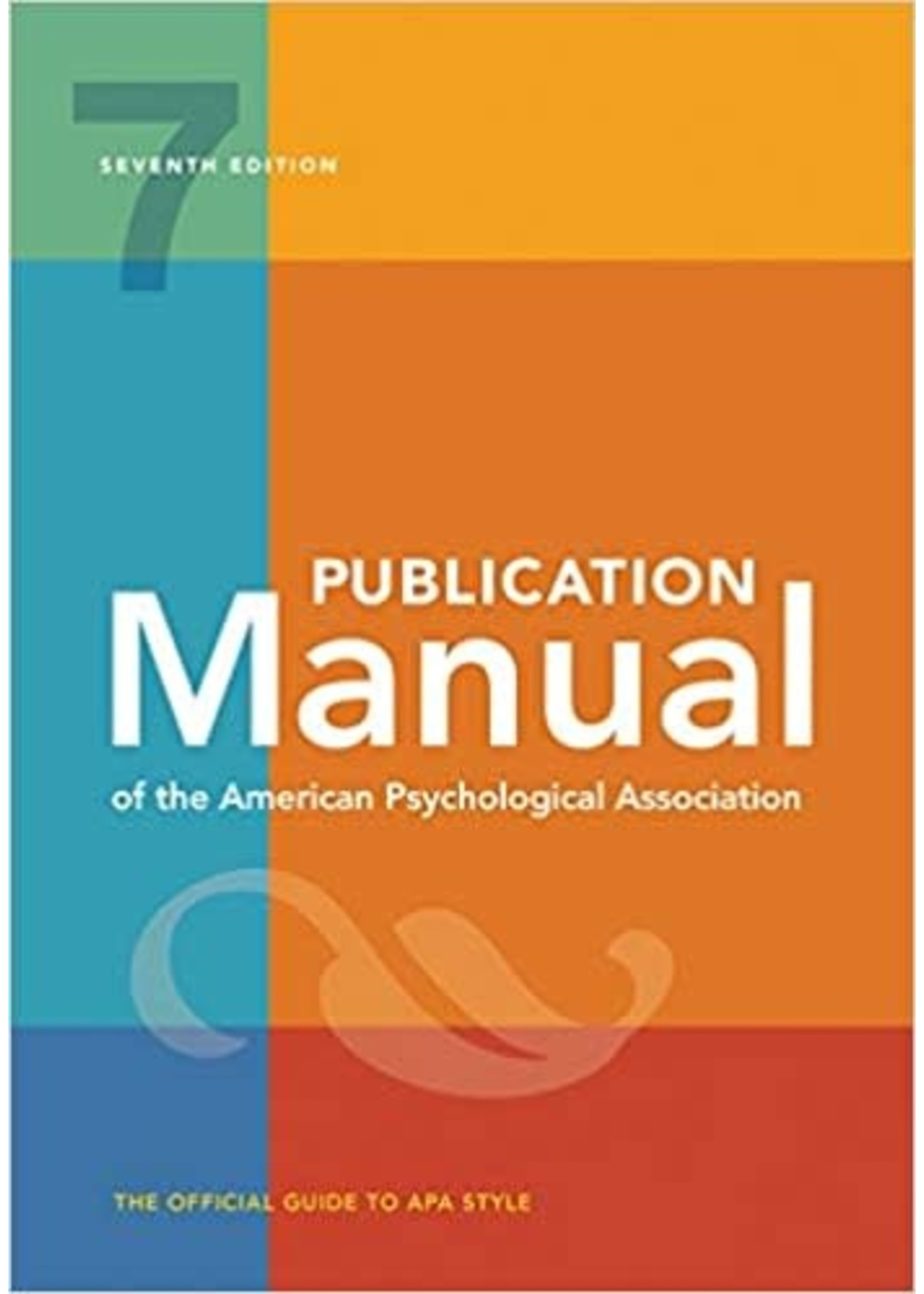COMS200 PUBLICATION MANUAL OF AMER PSYCH ASSOC