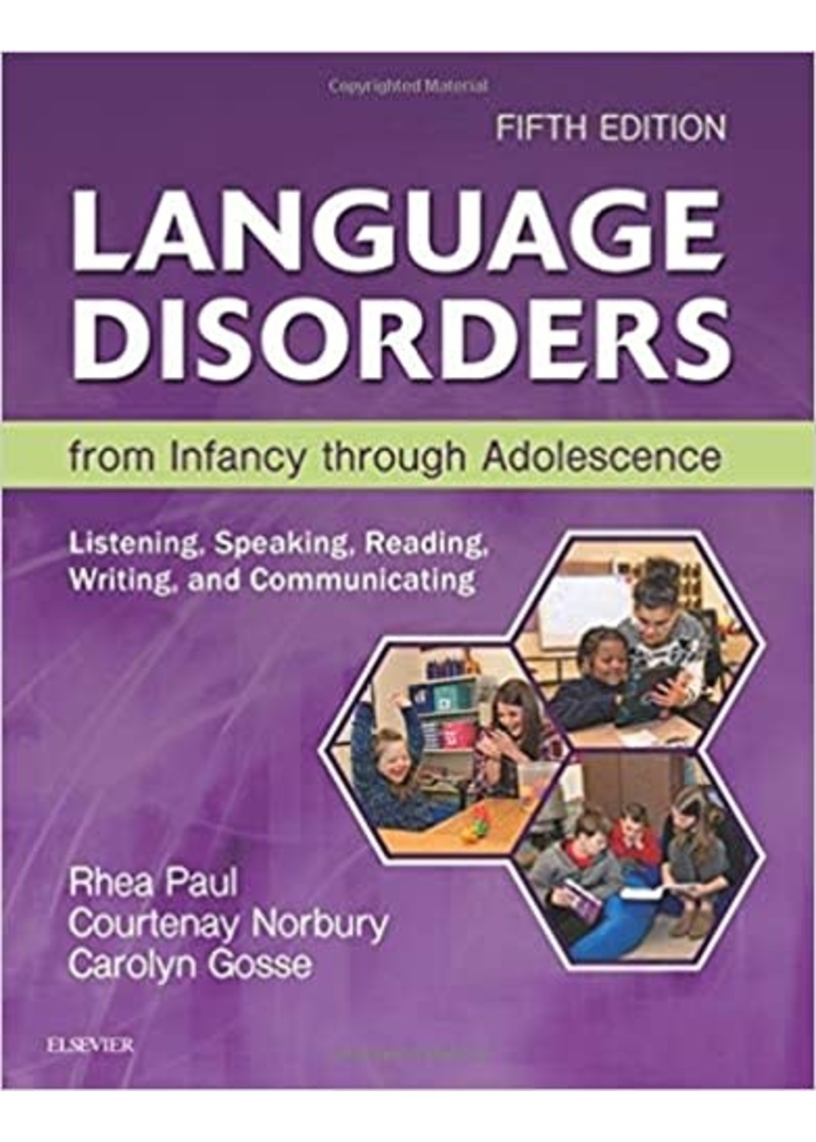 CSD511 LANGUAGE DISORDERS FROM INFANCY THR ADOL