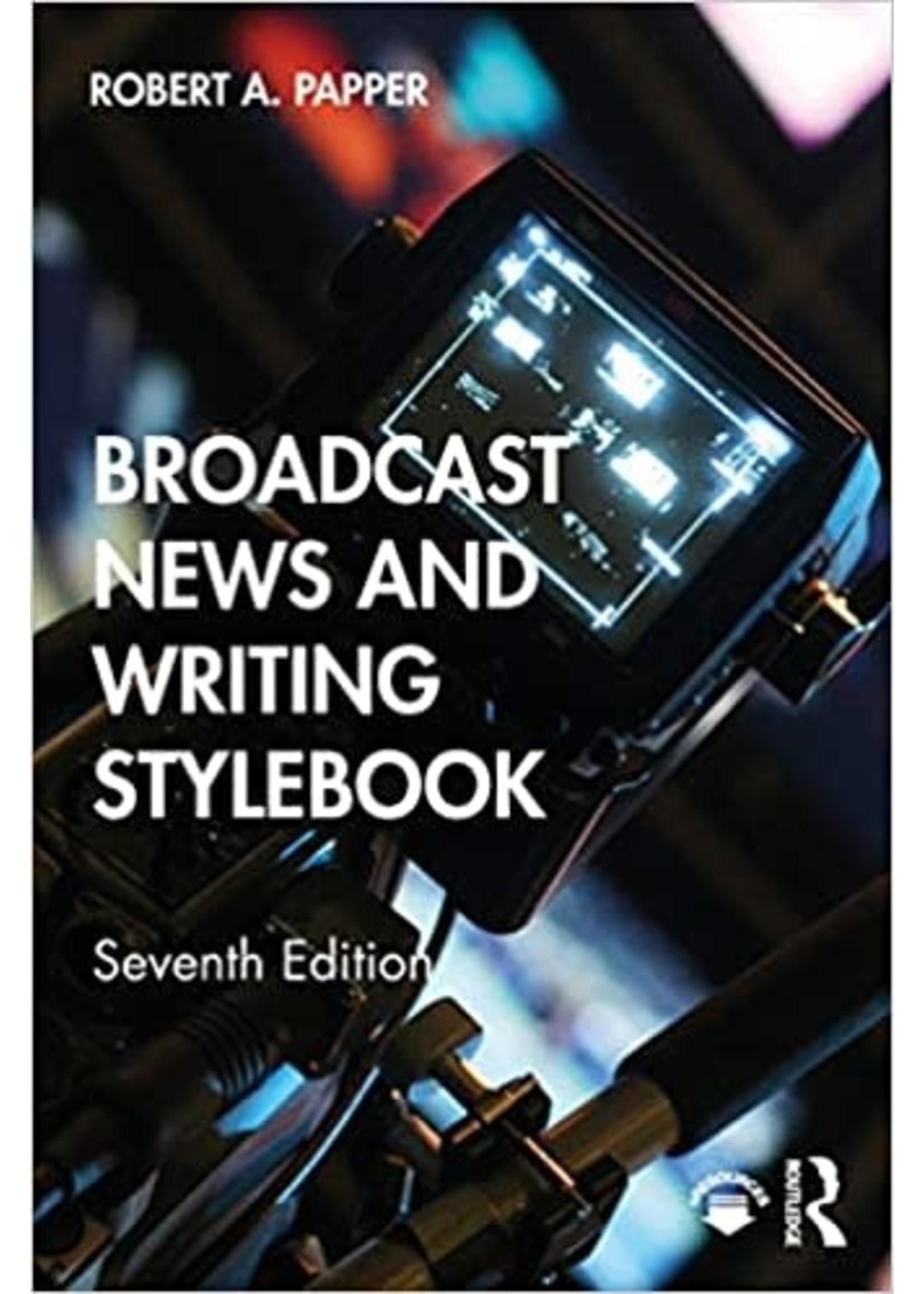 MC265 BROADCAST NEWS +WRITING STYLEBOOK(RENTAL)