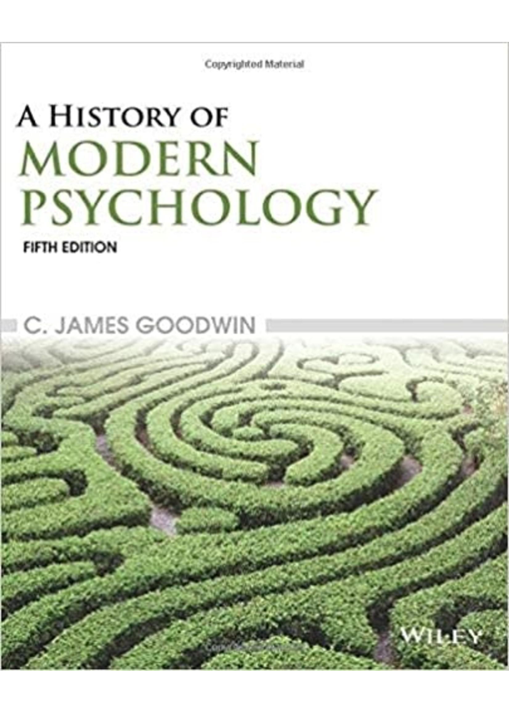 PSYC499 HISTORY OF MODERN PSYCHOLOGY (RENTAL)