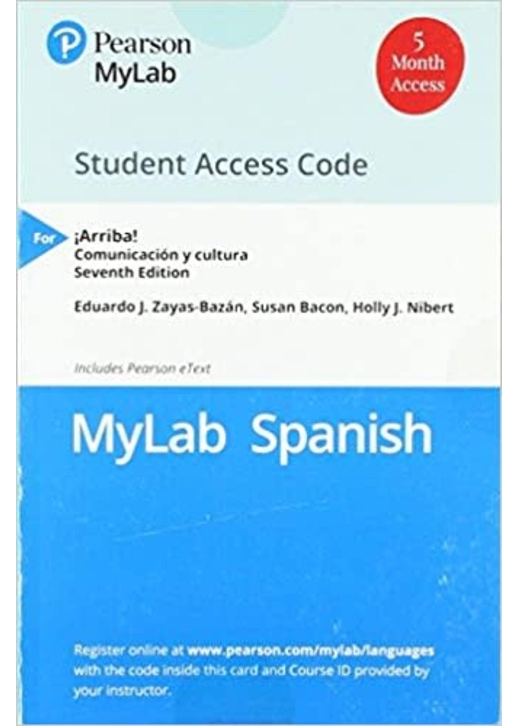 SPN101/102  ARRIBA MY SPANISH LAB (1 SEM)