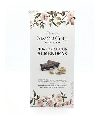Simon Coll 70% Dark Chocolate Almond  Bar 2.99 oz Simon Coll 70% Dark Chocolate Almond  Bar 2.99 oz