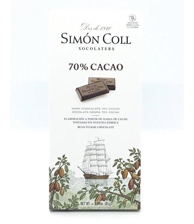 Simon Coll 70% Dark Chocolate Bar 2.99 oz