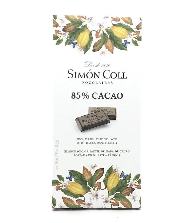 Simon Coll 85% Dark Chocolate  Bar 2.99 oz