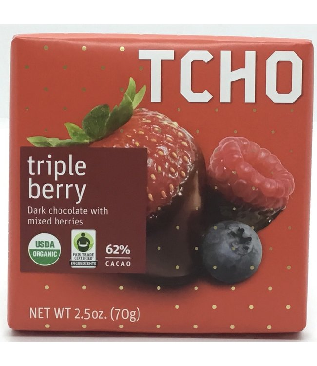 Tcho Triple Berry Dark Bar 2.5oz