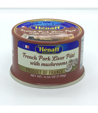 Hanaff French Pork Liver Pate with Mushrooms  4.5 oz France Hénaff French Pork Liver Pâté with Mushrooms  4.5 oz France