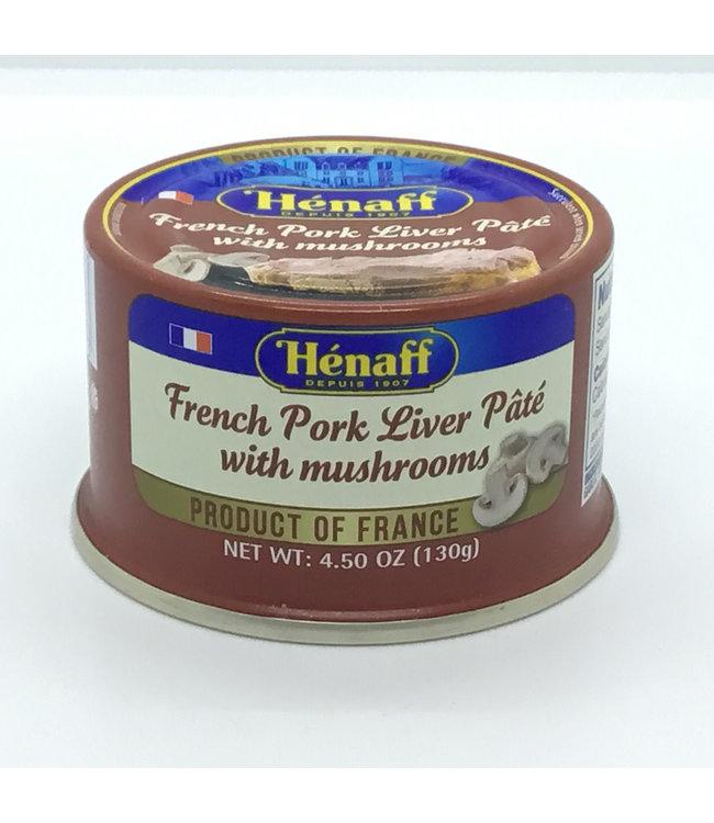 Hénaff French Pork Liver Pâté with Mushrooms  4.5 oz France