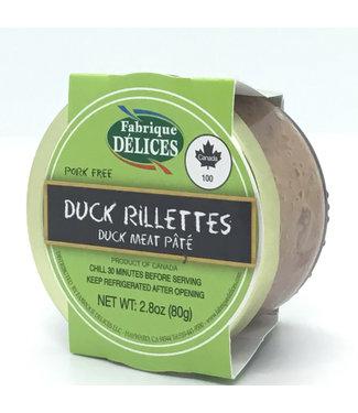 Fabrique Duck Rillettes Pate 2.8 oz Fabrique Duck Rillettes Pâté Perigord Confit 2.8 oz