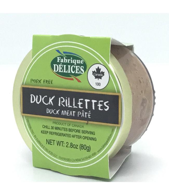 Fabrique Duck Rillettes Pâté Perigord Confit 2.8 oz