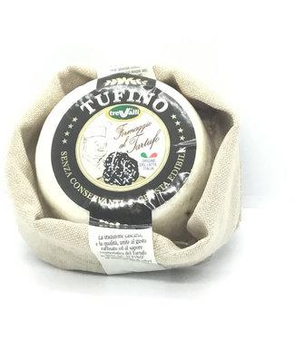 Tufino Cow & Sheep with Black Truffle Cheese Italy Tufino Cow & Sheep with Black Truffle Cheese Italy