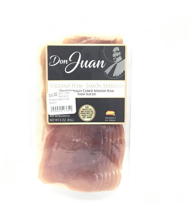 Don Juan Serrano Sliced Ham 3 oz Spain