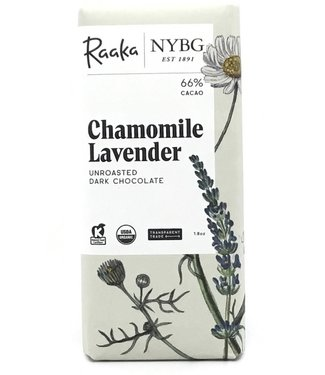 Raaka Chocolate Chamomile Lavender Bar 68% Limited Batch 1.8 oz Raaka Chocolate Chamomile Lavender Bar 68% Limited Batch 1.8 oz