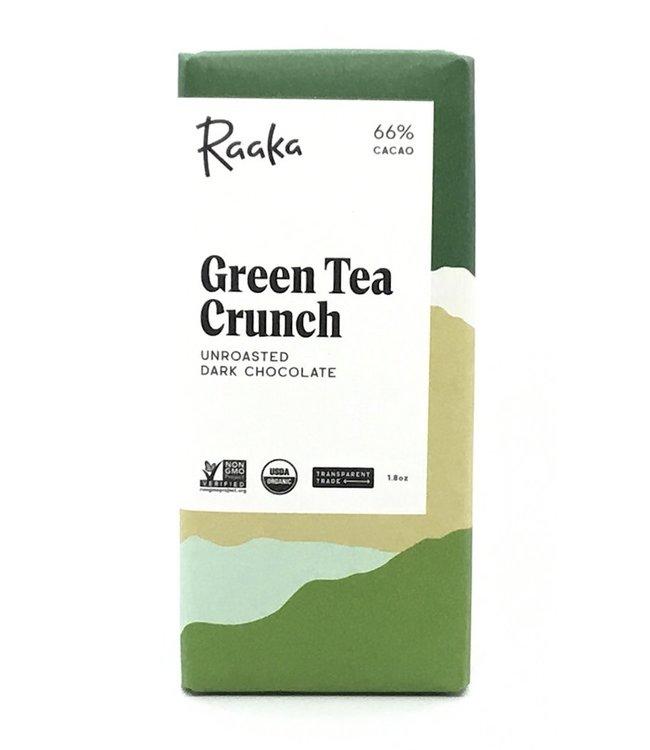Raaka Green Tea Crunch  Chocolate Bar 66%  1.8 oz