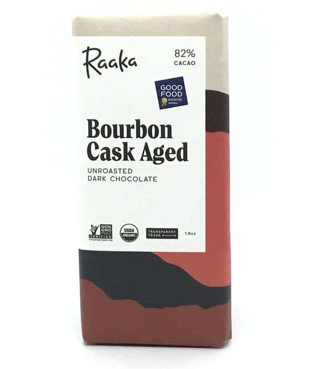 Raaka Bourbon Cask Aged  Chocolate Bar 82%  1.8 oz