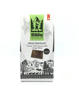 Milk Boy Cocoa Crispy Mint 3.5 oz Switzerland Milk Boy Cocoa Crispy Mint 3.5 oz Switzerland