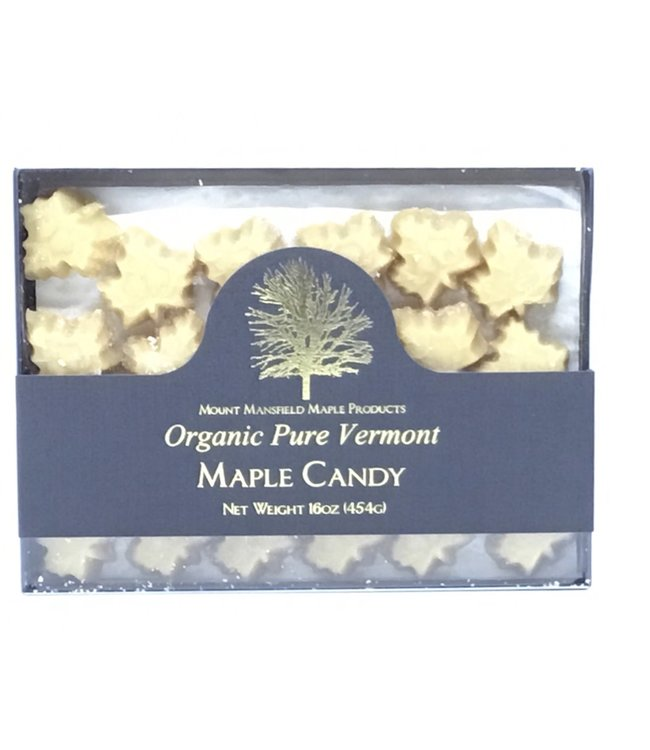 """Mount Mansfield Maple Candy """"Organic Pure Vermont""""  16oz"""